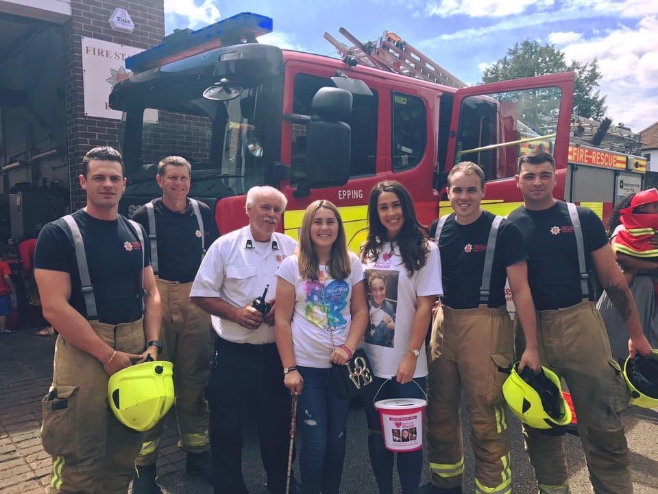 Epping Fire Station giving us a hand to raise funds we received £192 thank you boys