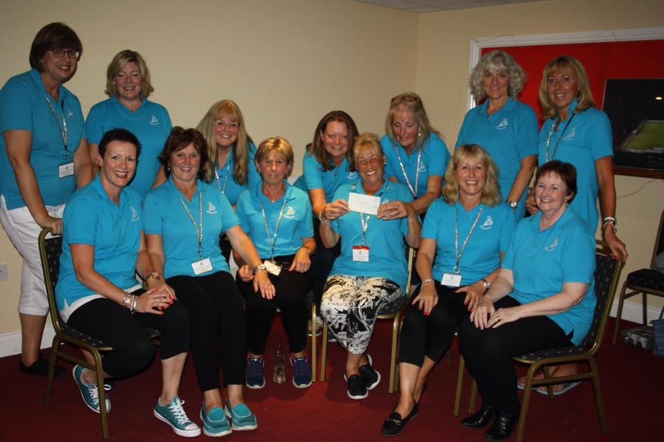 Diamonds club in Saffron Walden donating £350 to our campaign.