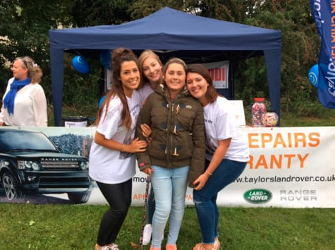 Dunmow carnival stand with Taylors Landrover