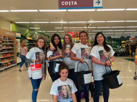 Tesco at Dunmow bucket collections for Save Our Maddi Appeal