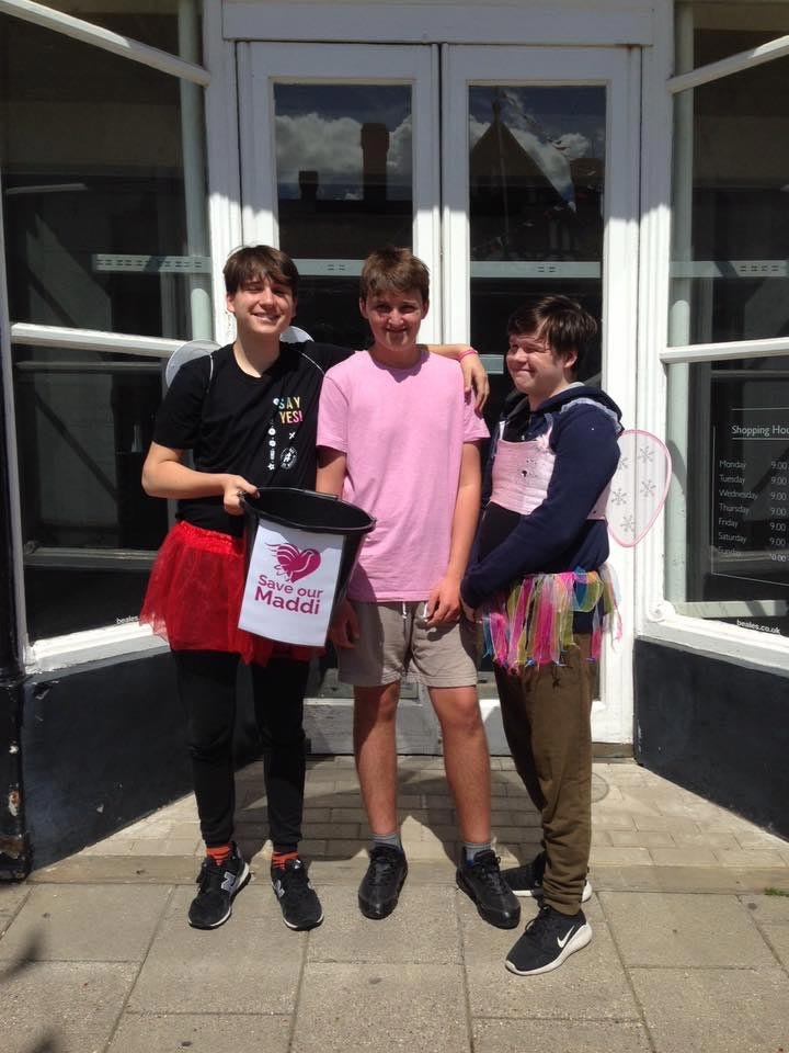 Saffron Walden Bucket collection for Save Our Maddi Appeal