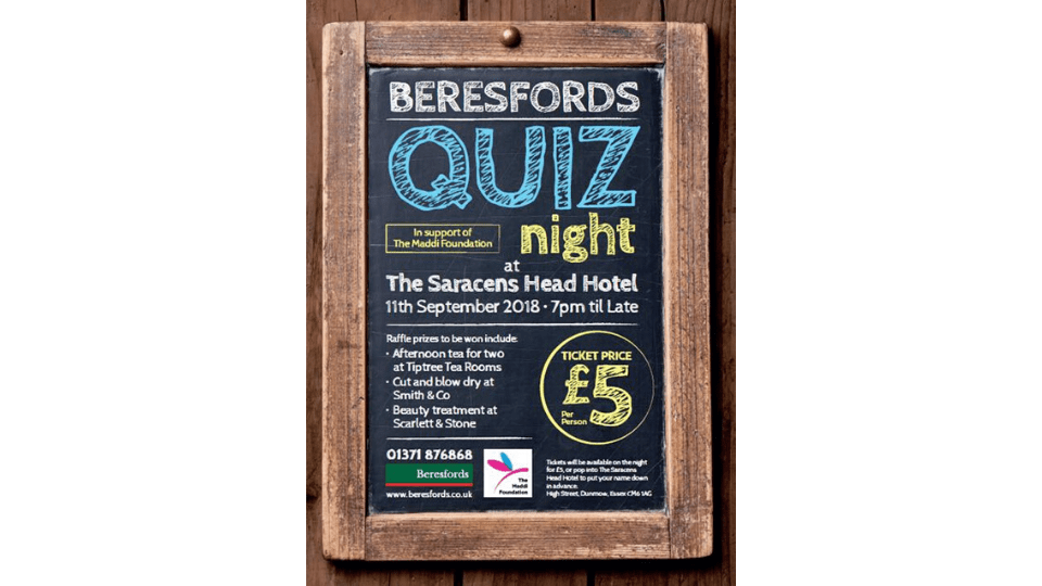 Beresfords Quiz Night 2018