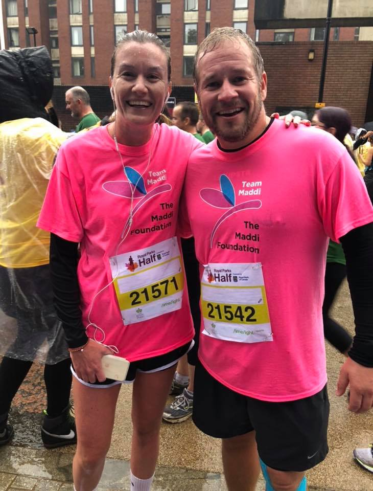 Victoria and John Richards running the Royal Parks 2018