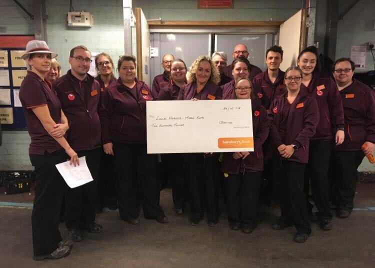 Local Heroes with Sainsburys made a generous donation for the Foundation