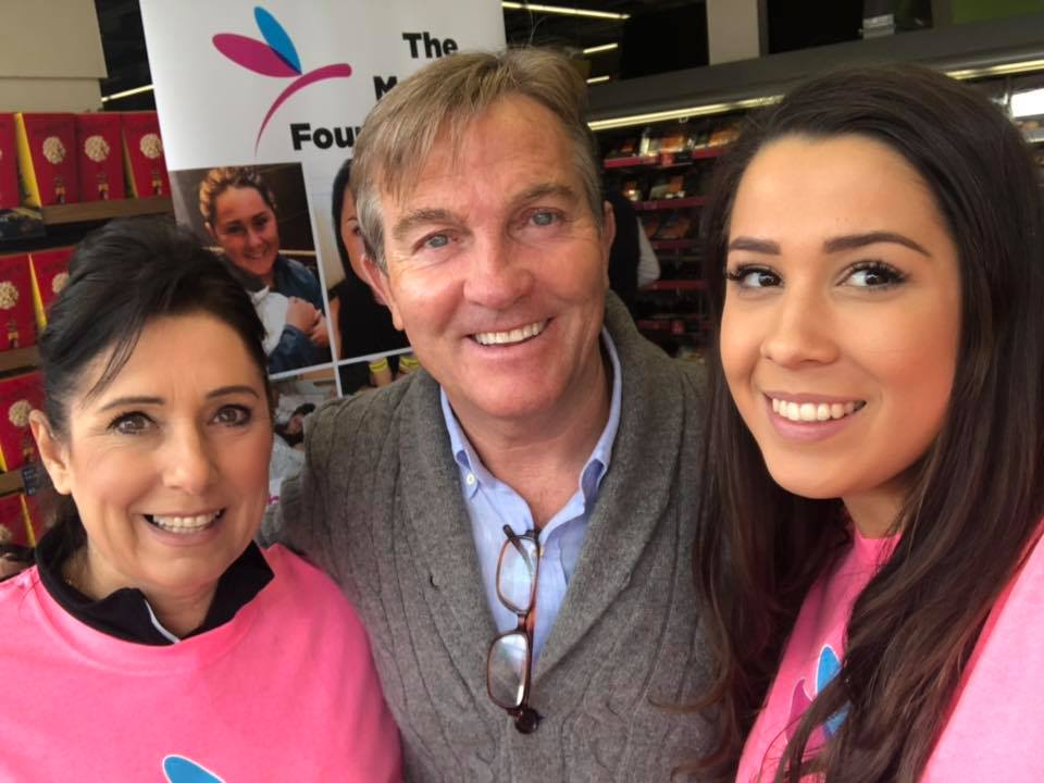 Fundraising day at Marks and Spencers and one of our supporteers Bradley Walsh