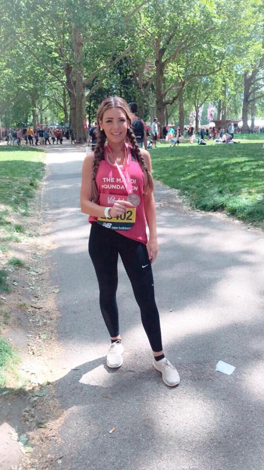 Katie Clover from Lloyds bank taking part in the London Vitality 10k